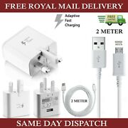 Samsung Fast Charger Plugand 2m Micro Usb Data Cable For Galaxy Phones Lot