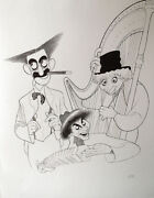 Al Hirschfeld Hand-signed Marx Brothers Musicale