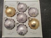 Tradition Made In West Germany Glass Xmas Ornaments W/box Vintage