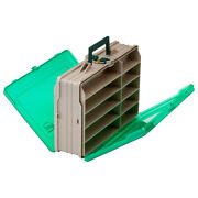 111906 Plano Double-sided 19-compartment Satchel Sandstone Green