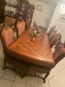 Antique Extendable Dining Table With 8 Chairs In Great Conditionandnbsp