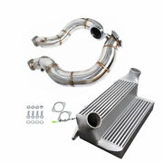 7.5 Stepped Intercooler+turbo Catless Downpipe For Bmw 135i 335i N54b30 3.0l
