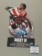 Sylvester Stallone Rocky 4 Hand Signed 3d Prop Card + Beckett Coa Buy Genuine