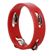 6 Inch Handheld Wooden Tambourine Hand Bell Percussion Musical Toy Single G2n1