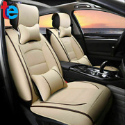 Waterproof Car Seat Cover 5-seats Full Set Protector14pc Interior Beige Quality