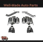 Corsa 304 Ss Axle-back Exhaust System Quad Rear For 16-19 Cadillac Ats 14478