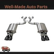 Corsa 304ss Valved Axle-back Exhaust System Quad Rear For 18-19 Mustang 21002blk
