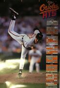 Baltimore Orioles 1993 Hts Network/hof Mike Mussina Schedule Poster Rare