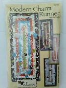 Ge Designs Iceland Modern Charm Runner Kit Quilt As You Go Yellow Pattern Fabric