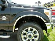 Ford F-250/350 Super Duty 2011-2016 Polished Stainless Fender Trim Molding
