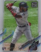Monte Harrison Rc 126 2021 Topps Series 1 Clear Acetate 04/10