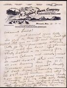 1921 Minneapolis - M Sigbert Awes Co North Dakota Farm Lands - Rare Letter Head