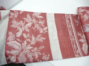 Williams Sonoma Holly Jacquard Red Holiday Tablecloth 70x144 Christmas