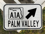Palm Valley Florida A1a Highway Road Sign 12x18 Dot Style Beach Free Shipping