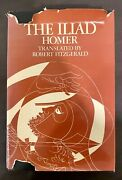 Homer The Illiad Translated By Robert Fitzgerald Hardcover Rare Book 1974