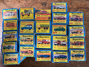 Collection Of 22 Old Matchbox Superfast Diecast Cars - 95+ Mint In Boxes 1960andrsquos