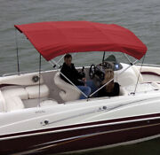 Shademate 80294 Red Bimini Top Poly Fabric And Boot Only4bow8and039l42h73-78andrdquow-new