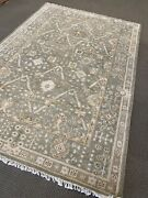 Khotan Oushak Area Rug 6and039 X 9and039 Wool Hand Made / Knotted New Woven Rare A+ Fine