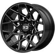 4-xd Series Xd831 Chopstix 20x10 6x135 -24mm Black/milled Wheels Rims 20 Inch