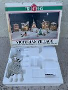 Christmas Traditions Victorian Village Hand Painted Porcelain Winter Scene