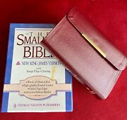 The Smallest Bible Nkjv With Snap-flap Closure By Thomas Nelson Bonded Leather