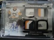 18/19 Sidney Crosby The Cup Quad Patch/tag Auto Foundations 1/1
