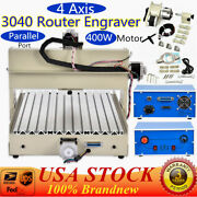 400w 4 Axis 3040 Cnc Router Engraver Cutting Milling Drilling Machine Pcb Drill