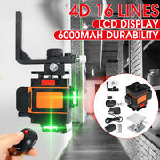 4d 16 Lines Laser Level Auto Self Leveling 360anddeg Rotary Measuring + 1m Tripod