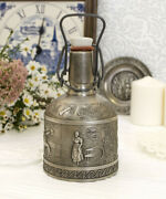 Vintage Pewter Flask Decanters Germany 400 Ml Hallmark 1970s Collectible Bottles