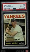 1964 Topps 50 Mickey Mantle Yankees Psa 6 - Ex/mt