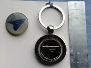 Pin Badge Key Ring Miat Mongolian Airlines Airways Air Company Keychain