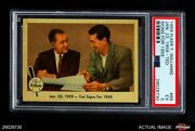 Fleer 68 Ted Williams - Ted Signs For 1959 Red Sox Psa 5 - Ex