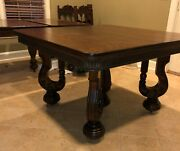 Beautiful Early 1900s Table. Tiger Wood, Solid Oak.