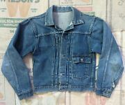 1930s Type 1 Buckle Back Denim Jacket Foremost 30s Jc Penney Small 30s