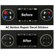 5x Good Quality Ac Button Repair Parts Stickers For 2007-2014 Gm Vehicles Decal