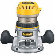 Dewalt Dw618 2-1/4 Hp Maximum Motor Hp Evs Fixed Base Router With Soft Start