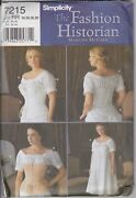 Uncut Simplicity 7215 Historical Chemise And Corset Pattern 14-20