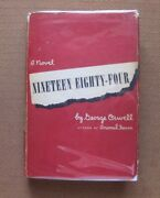 Nineteen Eighty Four 1984 By George Orwell -  1st/2nd Hcdj 1949 - 3.00 - Red