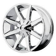 Kmc Slides Chrome 22 Inch Wheels With Tires 255/30/zr22