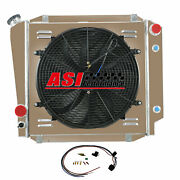 Asi 3 Row Radiator Shroud Fan For 1966-1977 Ford Early Bronco 3.3l L6 5.0l V8