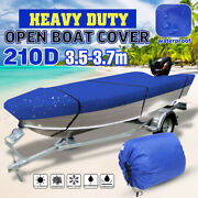 11.5and039-12and039 Waterproof Heavy Duty Open Boat Cover Trailerable Fish Bass