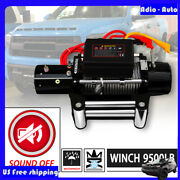9500lb 12v Electric Sound-off Waterproof Winch Kit W/ Steel Cable And Remote
