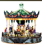 New Htf 2013 Lemax Spooky Town Merry Scary Go Round Carousel Carnival Halloween