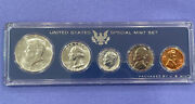 1964 Us Mint Coins In Genuine Us Special Mint Set Sms Holder + Silver Kennedy