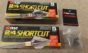 Vintage Hoyt Archery 2 Or 4 Blade Shortcut Traditional Broadheads 5 Pack + 3 Nos
