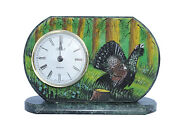 12 Hours Clock Table Auerhahn New Mantel Hunt Stone From Serpentinit Hermle