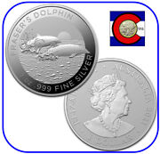 2021 Australia Fraserand039s Dolphin 0.999 Silver 1 Coin In Mint Capsule
