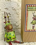 Penny Mcallister Midwest Cannon Falls Reindeer Girl Christmas Ornament New+box