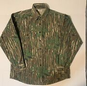 Five Brother L Large Real Tree Camo Chamois Flannel Shirt Usa Made Mens