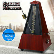 Antique Vintage Wood Mechanical Metronome Tempo Music Timer For Guitar Piano Usa